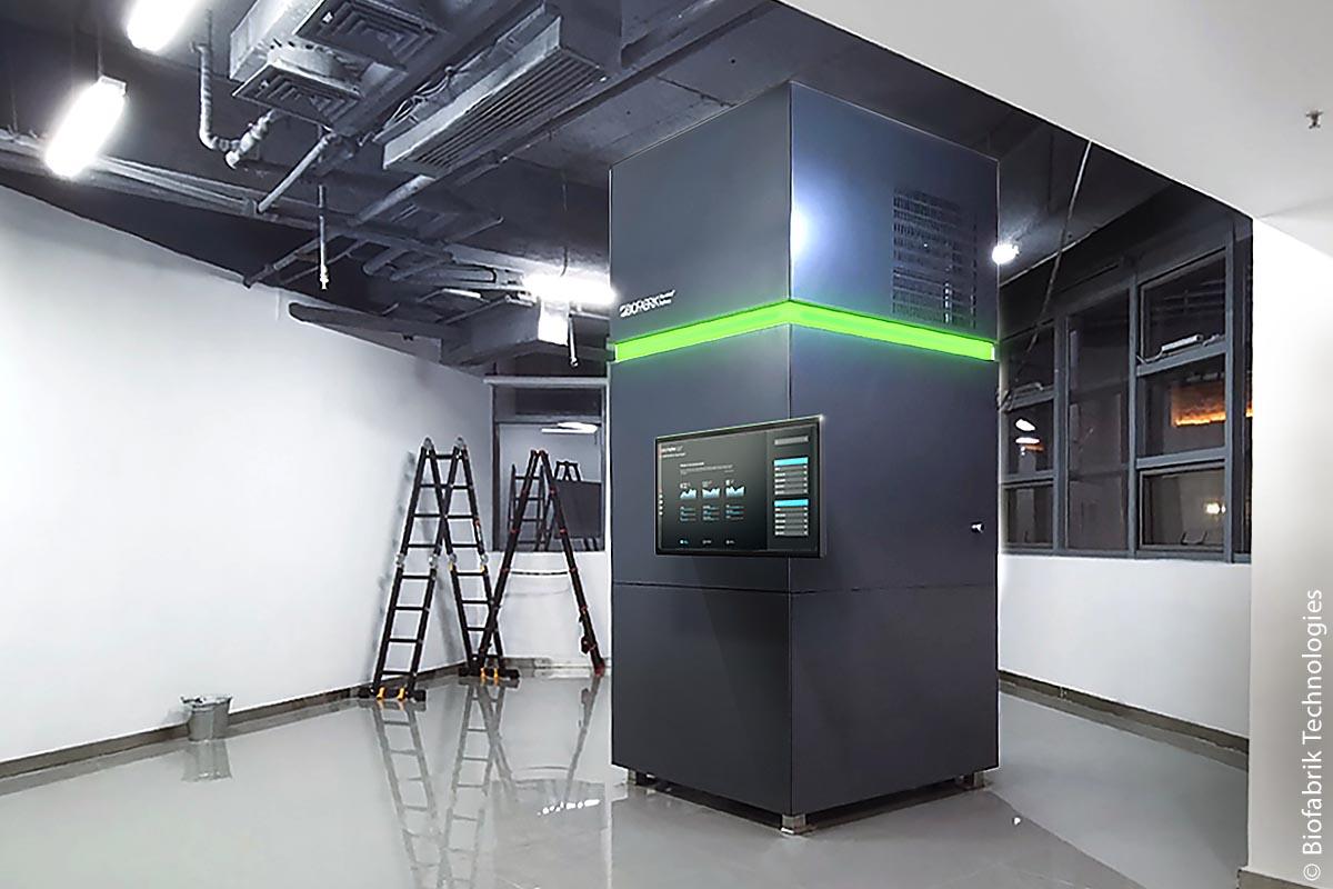 Die WASTX-Oil-Anlage von Biofabrik Technologies im zentralchinesischen Wuhan wird im dortigen Technologiezentrum als Vorführanlage genutzt. Bei höherem Bedarf können mehrere Anlagen einfach parallel geschaltet werden.
