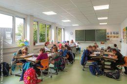 Alle Module sind voll ausgestattete Klassenräume für eine optimale Lernumgebung.