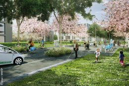 """Das """"Blue Village FRANKLIN"""" soll in Bezug auf Energieversorgung und Mobilität einen beispielhaften nachhaltigen Charakter erhalten."""