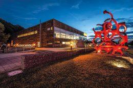 Die Außenansicht des Unimog-Museums