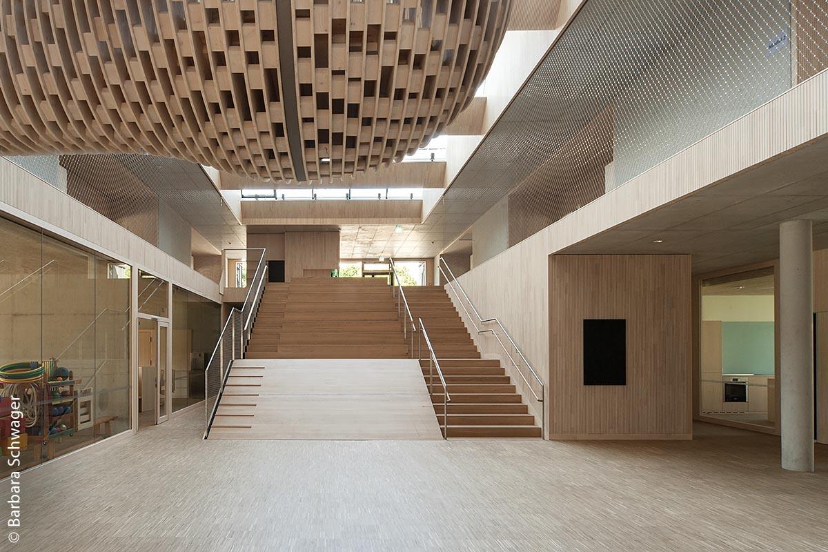 Der Riedlepark Friedrichshafen ist ein offen und freundlich gestaltetes Kinderhaus.