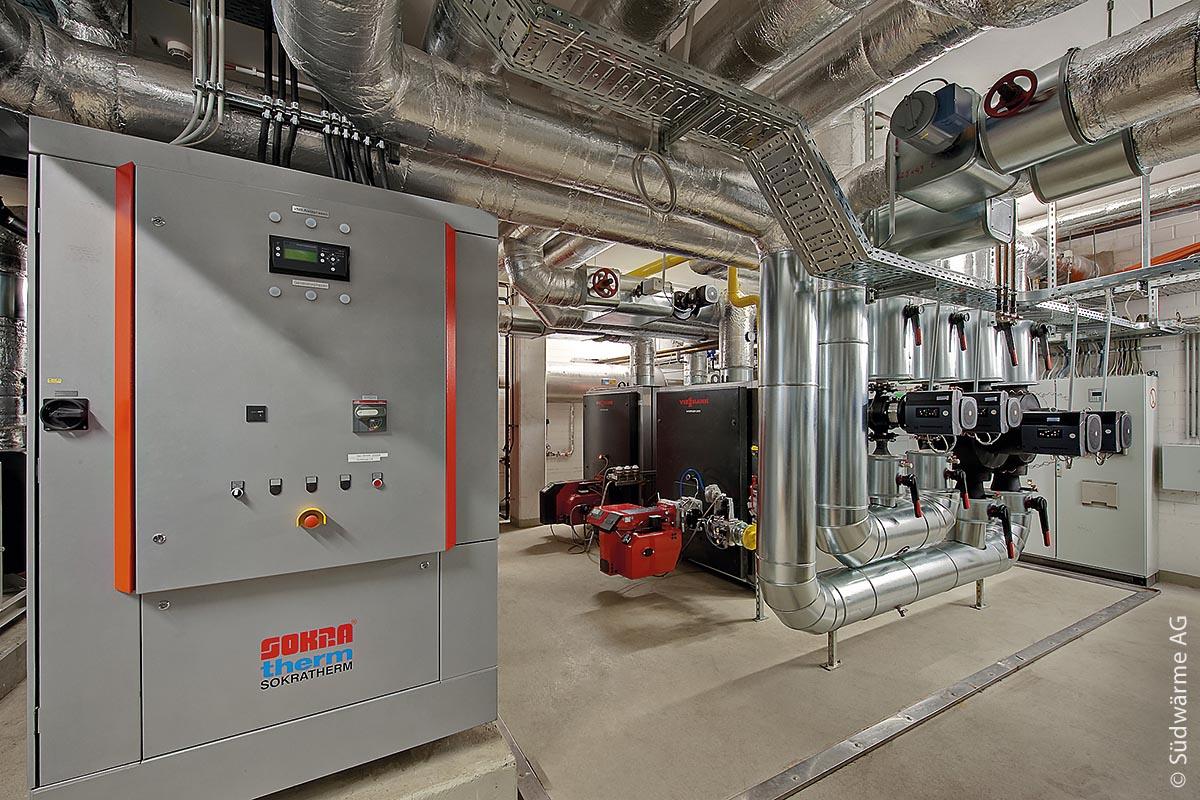 Die Energiezentrale des Ballhaus-Forums versorgt Infinity One und Infinity Two.