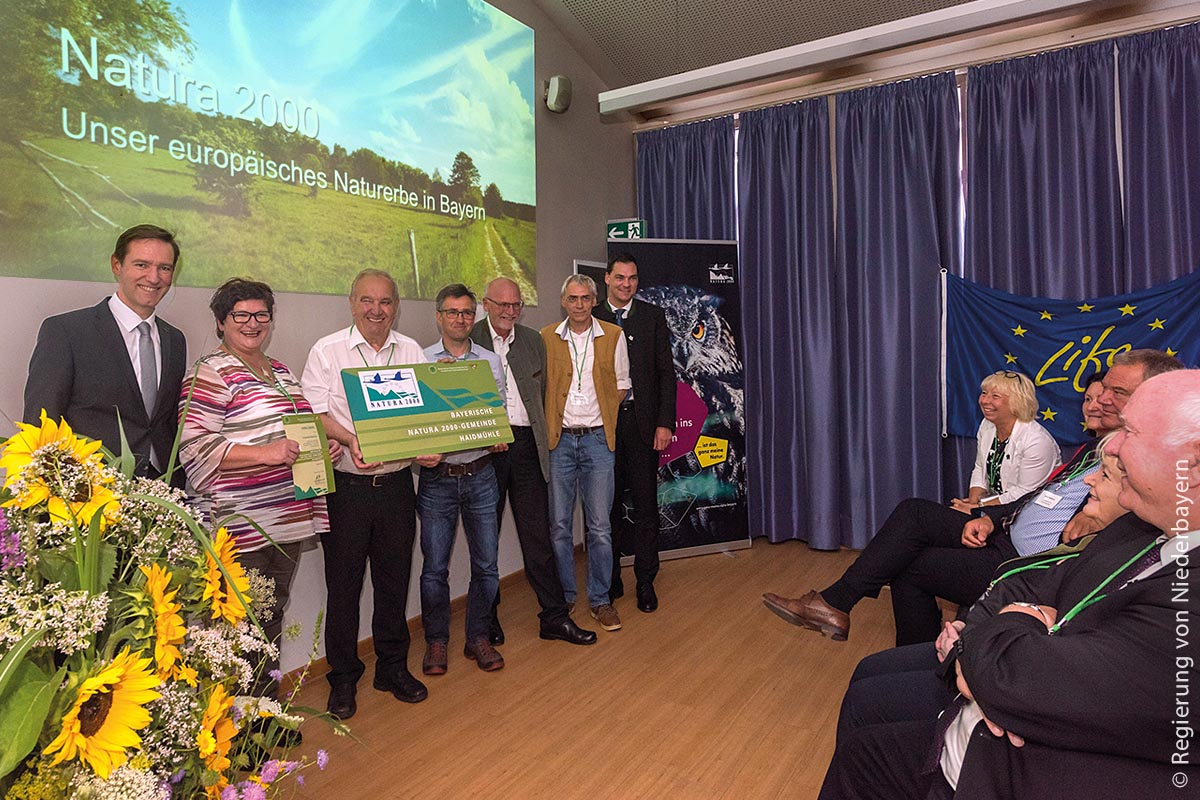 Auszeichnung der niederbayerischen Natura-2000-Gemeinde Haidmühle, die im beschaulichen Landkreis Freyung-Grafenau liegt.