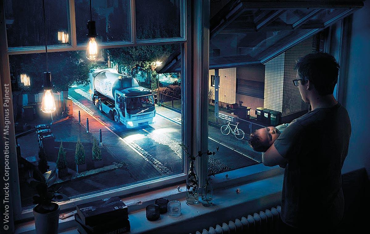 Nachtfahrten bleiben von der schlafenden Bevölkerung weitestgehend unbemerkt und entschärfen den Verkehr in den Stoßzeiten tagsüber.