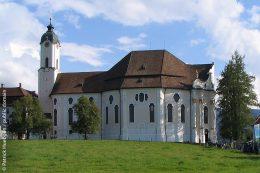 Außenansicht der Wieskirche von der Seite