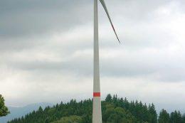 Die volatile Erzeugung von Strom durch Windkraftanlagen muss in das Stromnetz eingebunden werden. Die Windkraftanlage Tännlebühl steht zwischen den Gemeinden Freiamt und Gutach. Bei einer Gesamthöhe von 185,5 Metern hat sie eine Leistung von drei Megawatt.