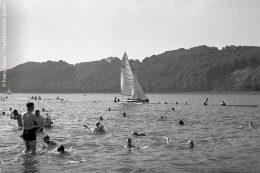 Strandbad bei Haus Scheppen 1935: Da war das Baden in der Ruhr noch möglich!