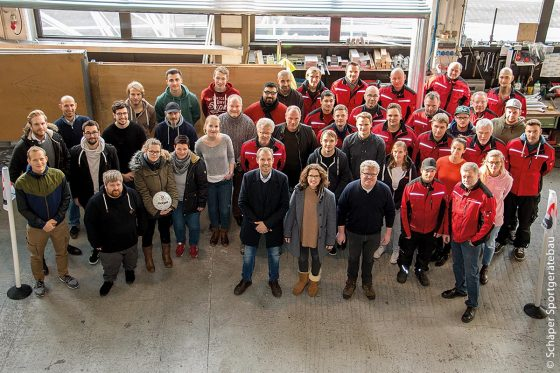 Das Team von Schäper Sportgerätebau legt großen Wert auf Qualität.