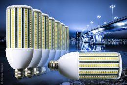LED-Einschraublampe Aladin von euroLighting mit integrierter Nachtabsenkung zum Austausch von HQL-/NAV-Lampen