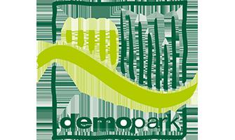 Messelogo der Fachmesse demopark 2023 in Eisenach.