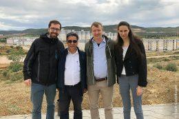 Die Sindelfinger Delegation besichtigte im letzten Frühjahr unter anderem das Neubaugebiet der Stadt Annaba Drâa Errich (von links): Julian Schahl, Rachid Bougedah, Patrick Bühler und Doria Adman.