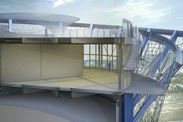 Energiespeicher Heidelberg: Detaillierte Dachansicht im Querschnitt