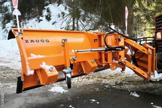 Der neu entwickelte Schneepflug G16 von Zaugg besitzt eine leichte Bauweise.