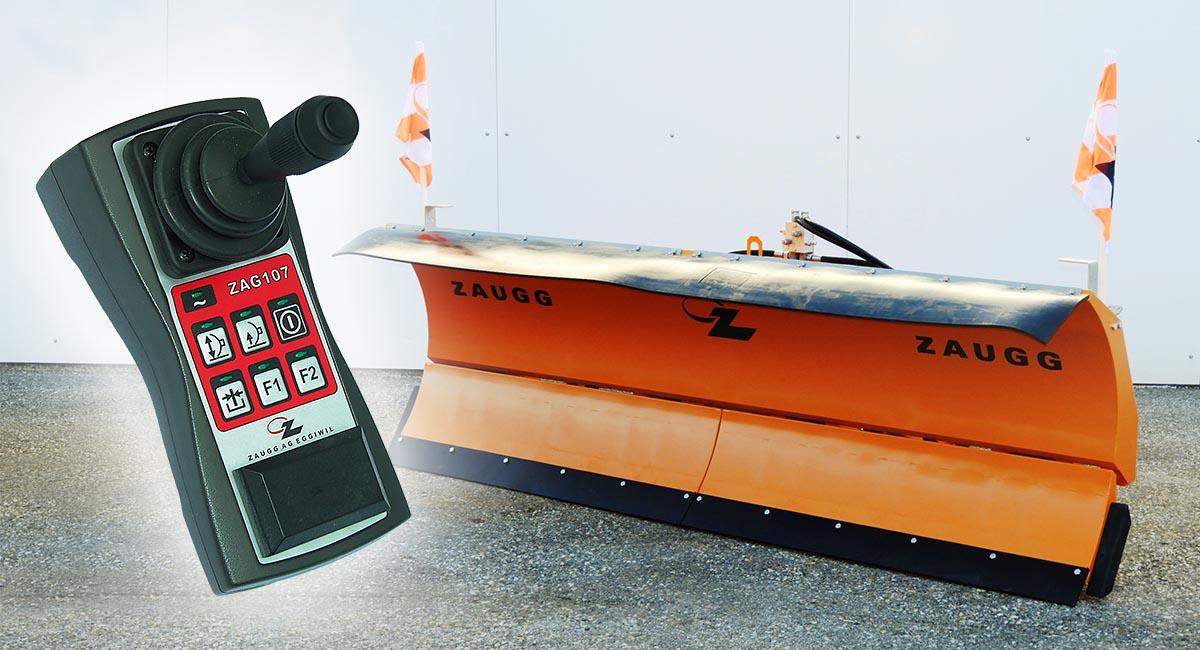 Die kompakte Schneepflugsteuerung mit Be- und Entlastungsfunktion ist als Option erhältlich.