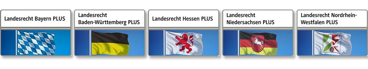 """Neben dem bereits seit längerem existierenden Landesrecht Bayern """"Landesrecht Bayern Plus"""" bietet das Portal Beck-Online jetzt auch Module mit dem Landesrecht Baden-Württemberg, Hessen, Niedersachsen und Nordrhein-Westfalen an."""