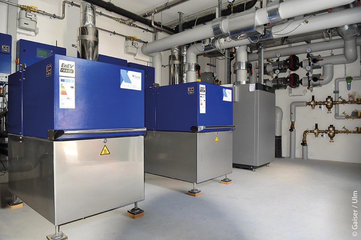 Die Energiezentrale der Johanniter-Wohnanlage