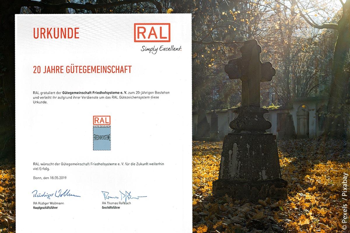 Die Gütegemeinschaft Friedhofsysteme e.V. feierte 2019 ihr 20-jähriges Bestehen.