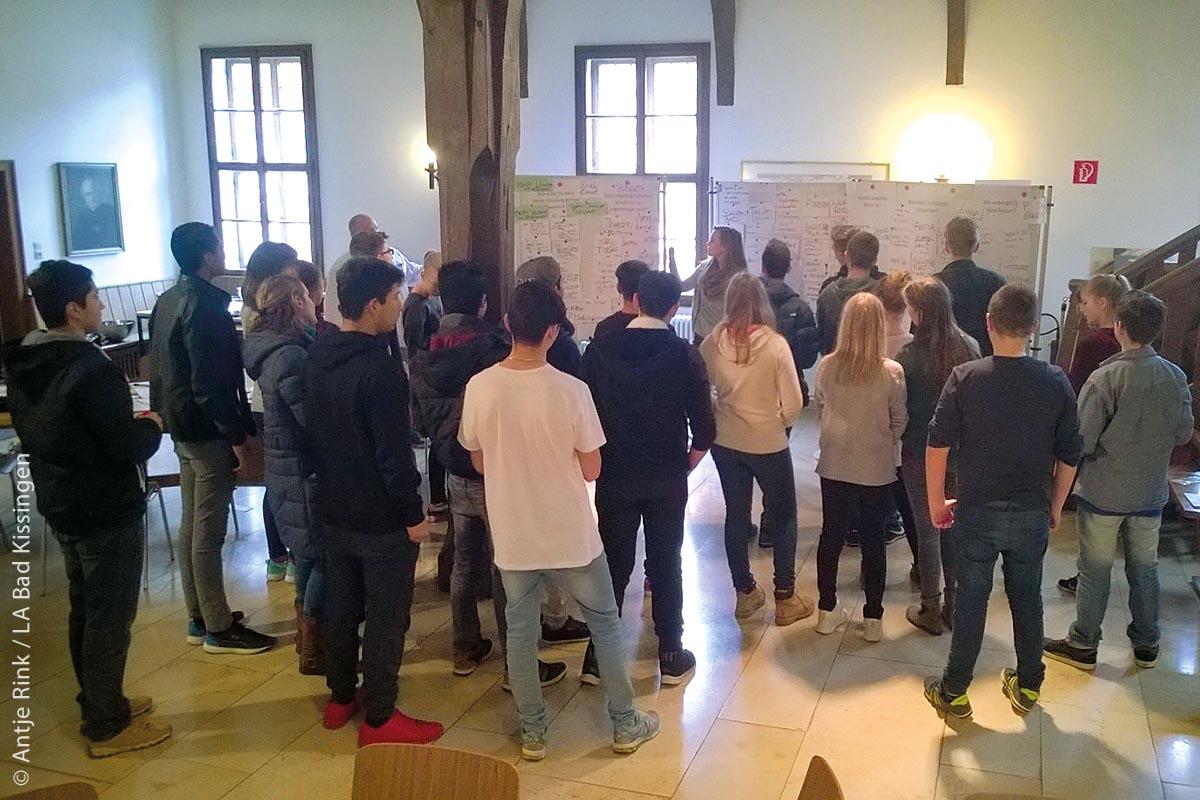 """Beim Projektmanagement """"Generation V-Z"""" zur Frage """"Was wünscht ihr euch?"""" werden Kinder und Jugendliche in den Kommunen aktiv mit in den örtlichen Gestaltungsprozess eingebunden."""