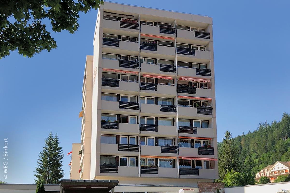 Außenansicht des WEG-Gebäudes in der Todtmooser Straße St. Blasien