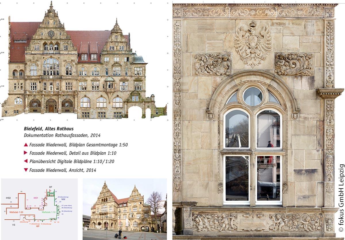Die fokus GmbH Leipzig erstellt seit 1993 Dokumentationen für die Denkmalpflege. Die Kartierungssoftware Metigo MAP wird seit 1999 in Zusammenarbeit mit Restauratoren und Planern entwickelt. Sie kombiniert Bildentzerrung mit einer maßstabsgerechten CAD-Auswertung.