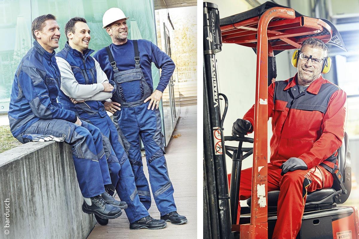 Gepflegte, einheitliche Berufskleidung stärkt das Image und den Zusammenhalt der Mitarbeiter und ergonomische Schnitte sorgen für eine optimale Bewegungsfreiheit.
