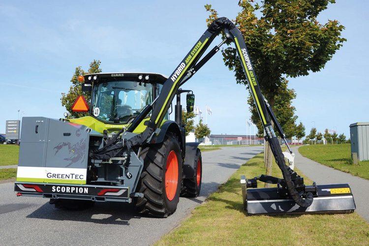 """Die neue Auslegermäher-Baureihe """"Scorpion"""" von Greentec ist beim Agritechnica Award mit einer Silbermedaille ausgezeichnet worden."""