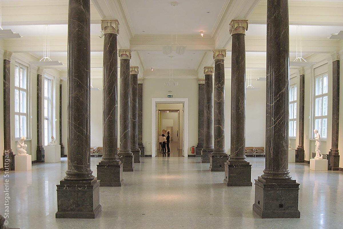 Der Säulensaal der Alten Staatsgalerie Stuttgart