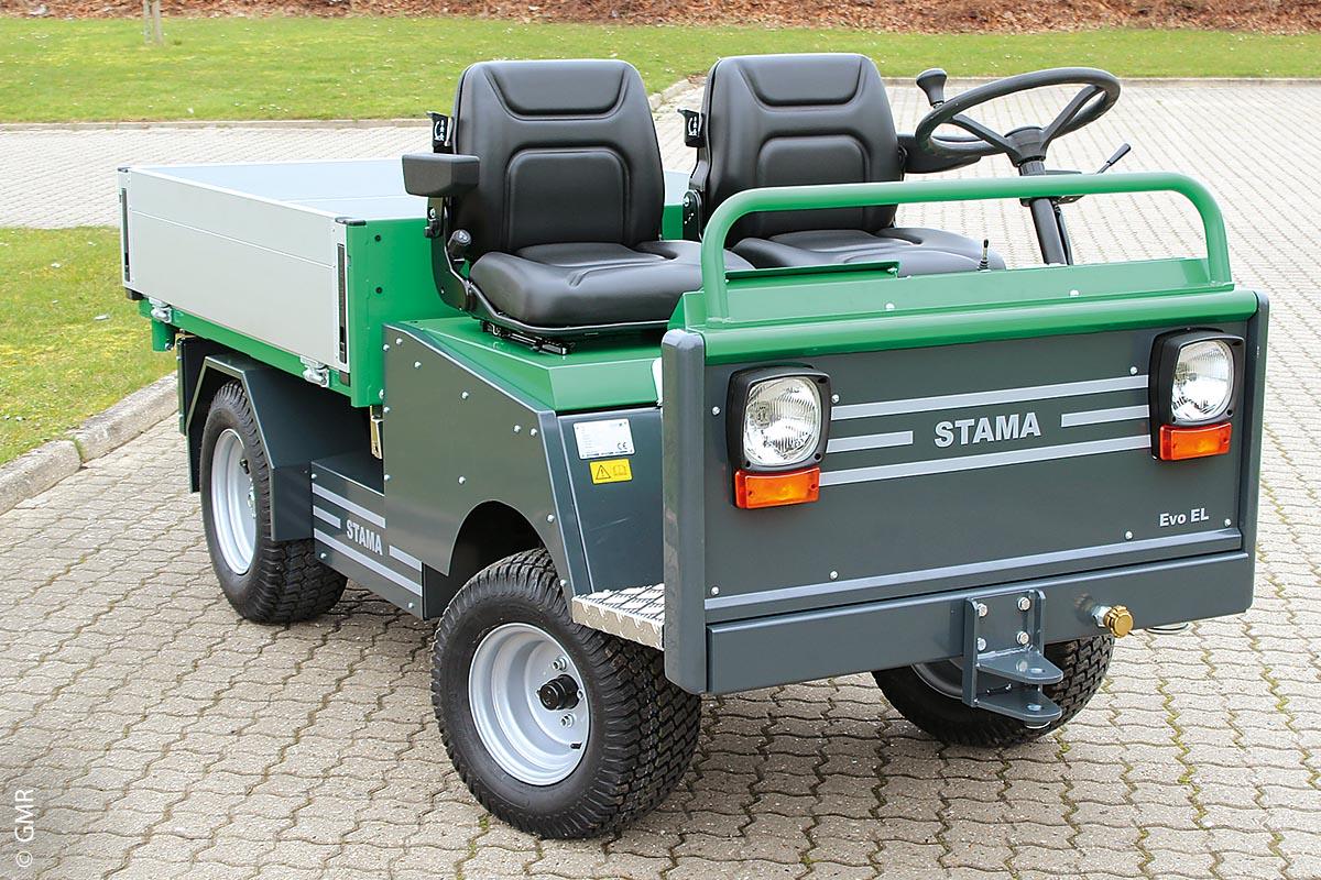 Der Mini-Lkw Evo-EL – hier mit offener Kabine – wurde überarbeitet. Ein 6,5 KW AC-Elektromotor treibt ihn an.