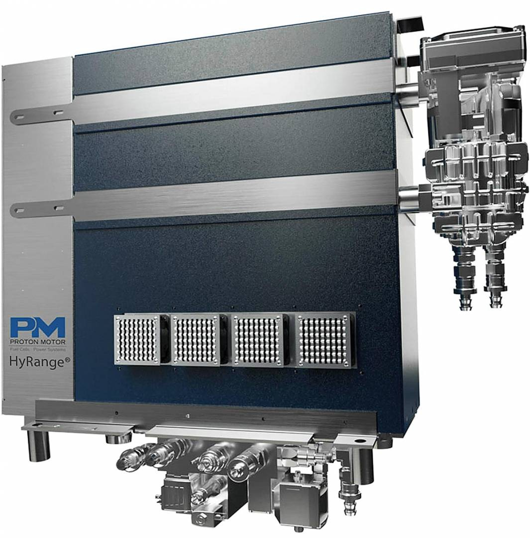 """Die niederländisch-belgische Firma E-Trucks Europe hat fünf Hy-Range-Wasserstoff-Brennstoffzellen-Systeme auf Basis von EU-Projekt """"REVIVE"""" bestellt, mit denen er seine Fahrzeuge ausstatten will."""