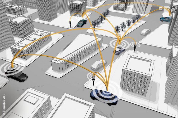 Der weltweit größte Praxistest für Car-to-X-Kommunikation startet: Bis Ende des Jahres werden in Summe 120 Fahrzeuge im Rhein-Main-Gebiet unterwegs sein, die sowohl untereinander als auch mit der Verkehrsinfrastruktur vernetzt sind und sich so gegenseitig über die jeweilige Verkehrssituation informieren.