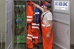Der Trocknungsschrank Combi Eco bietet Platz für acht Ausrüstungen.