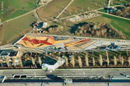 Das Areal auf der Landesgartenschau in Ingolstadt erhält auch einen farbenfrohen Wasserspielplatz.
