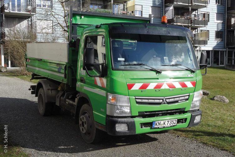 Bei den Technischen Betrieben der Stadt Konstanz kommt der Fuso Canter nicht nur für die Grünpflege und den Straßenunterhalt zum Einsatz.