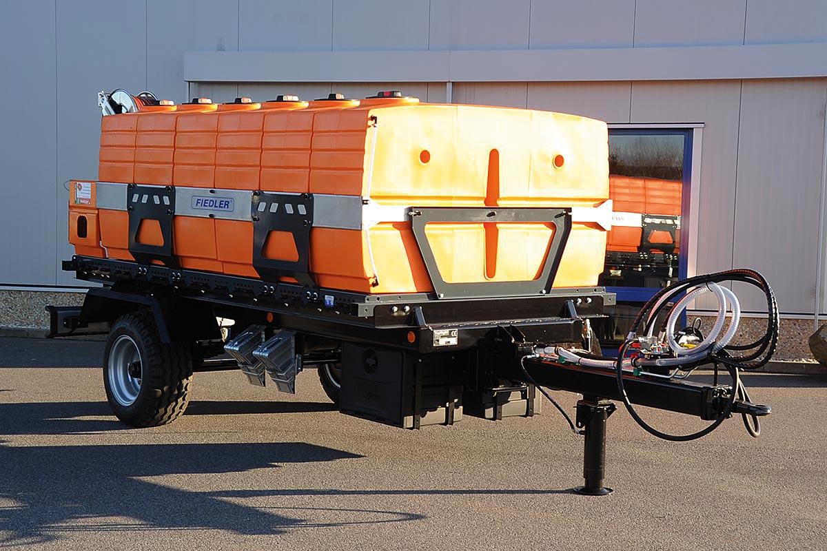 Das neue Anhänger-Tanksystem ist eine Kombination aus dem bewährten Tanksystem FTS 5100/6 und einem integrierten Anhängerfahrgestell.