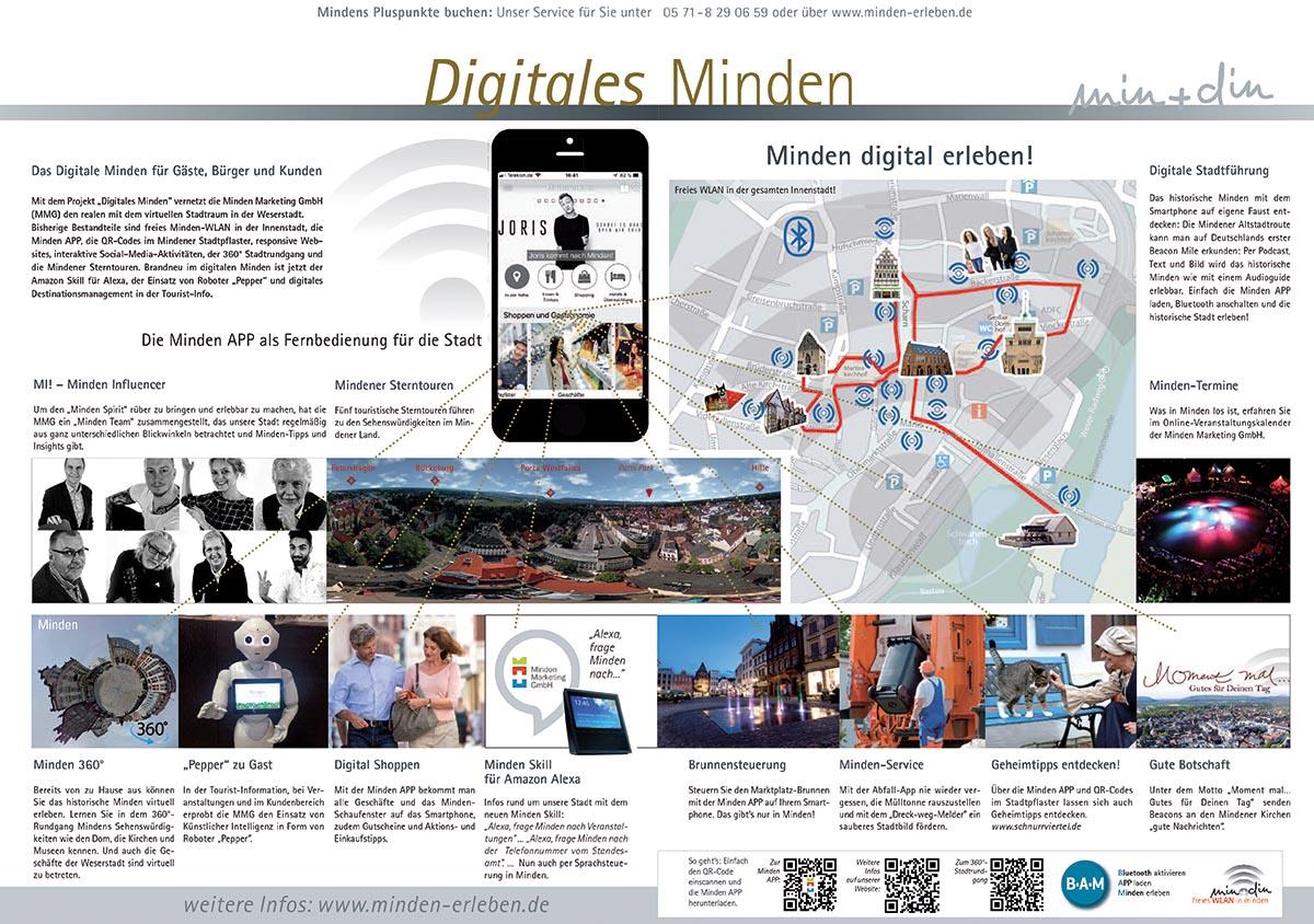 """Über das Portal """"Digitales Minden"""" lässt sich die Stadt per App kennenlernen und erkunden."""