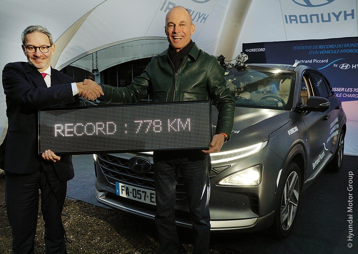 Eine einzige Füllung des Wasserstofftanks reichte Bertrand Piccard für 778 Kilometer.