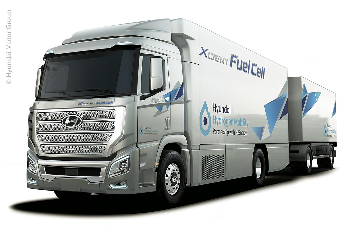 Die ersten 50 Lastwagen des Hyundai H2 Xcient-Lkw mit umweltfreundlichem Brennstoffzellenantrieb sollen in diesem Jahr in die Schweiz ausgeliefert werden.