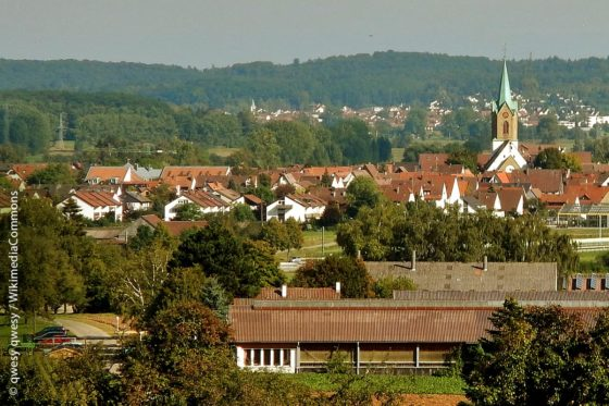 Blick auf Renningen im Landkreis Böblingen