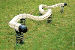 Besser als ein gerader Balken: Das Kurven-Laufen schult Gleichgewichtssinn und Motorik.