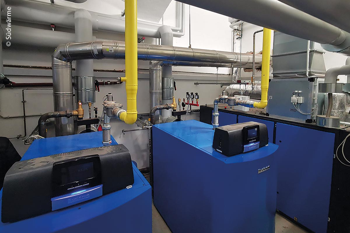Die Energiezentrale im Herder-Gymnasium von Forchheim