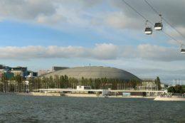 Die Expo-98-Seilbahn im Lissaboner Park der Nationen bietet Touristen einen atemberaubenden Ausblick.