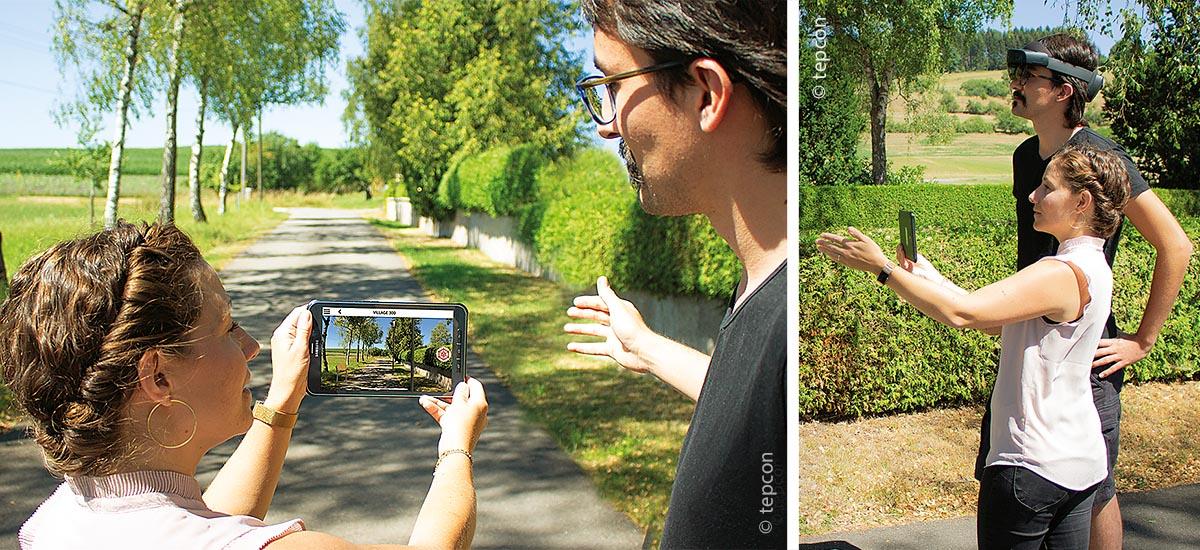 Ob via AR-Brille oder Tablet, mit ins Bild projizierten Objekten hilft man seinem Vorstellungsvermögen auf die Sprünge.