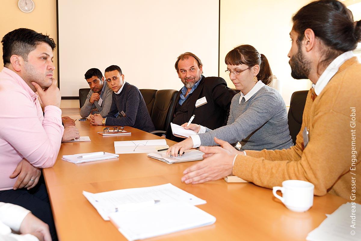 Austausch ist wichtig: Im Gespräch über kommunale Themen entstehen neue Ideen.