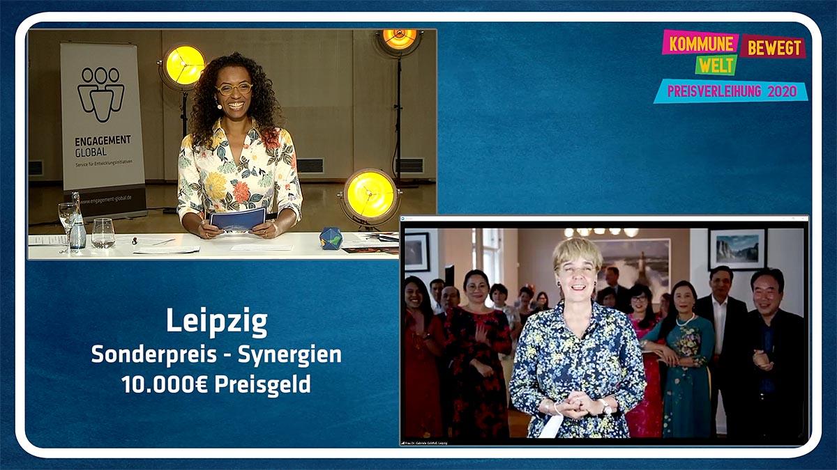 """Leipzig wurde auch mit einem Sonderpreis bedacht, und zwar zum Bereich """"Synergien""""."""