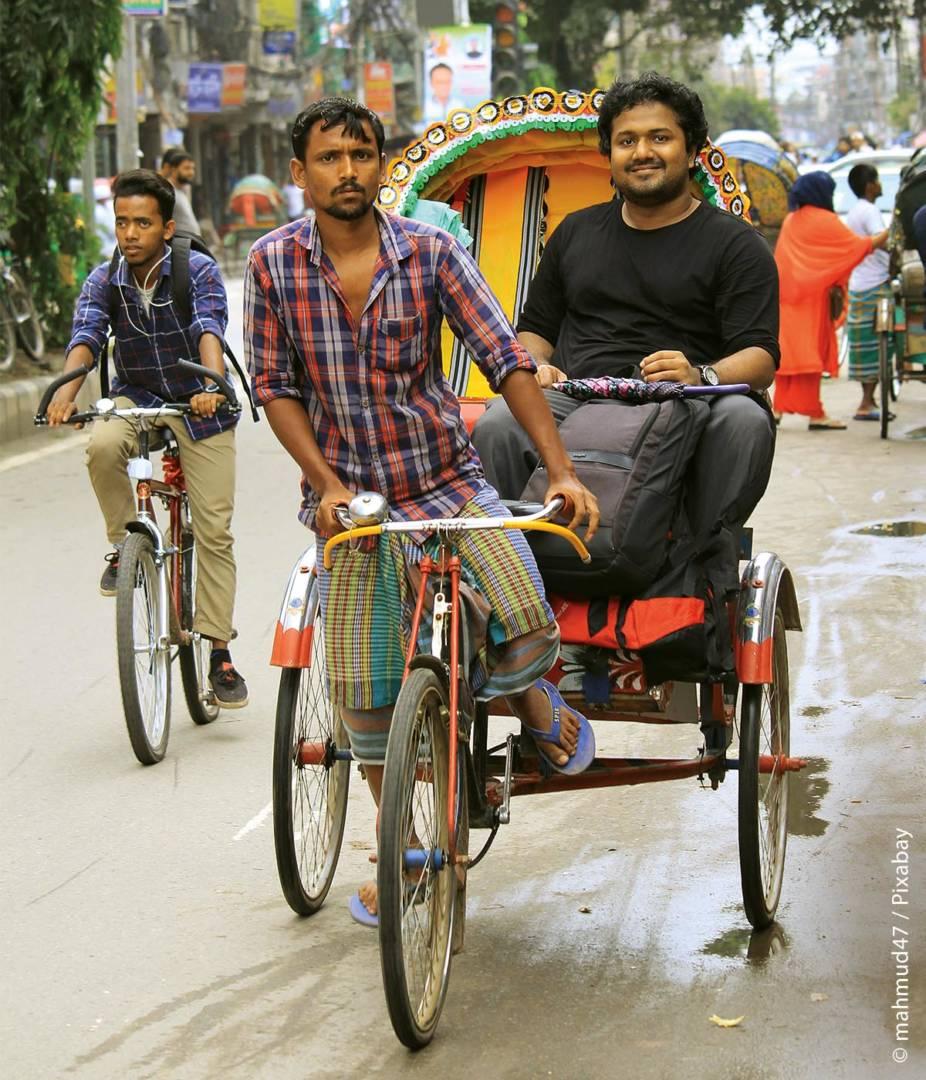 Traditionell gehören vor allem in Asien (zum Beispiel auch in Bangladesh) Transporträder wie Rikschas zu den kostengünstigsten und auch praktischsten Verkehrsmitteln.