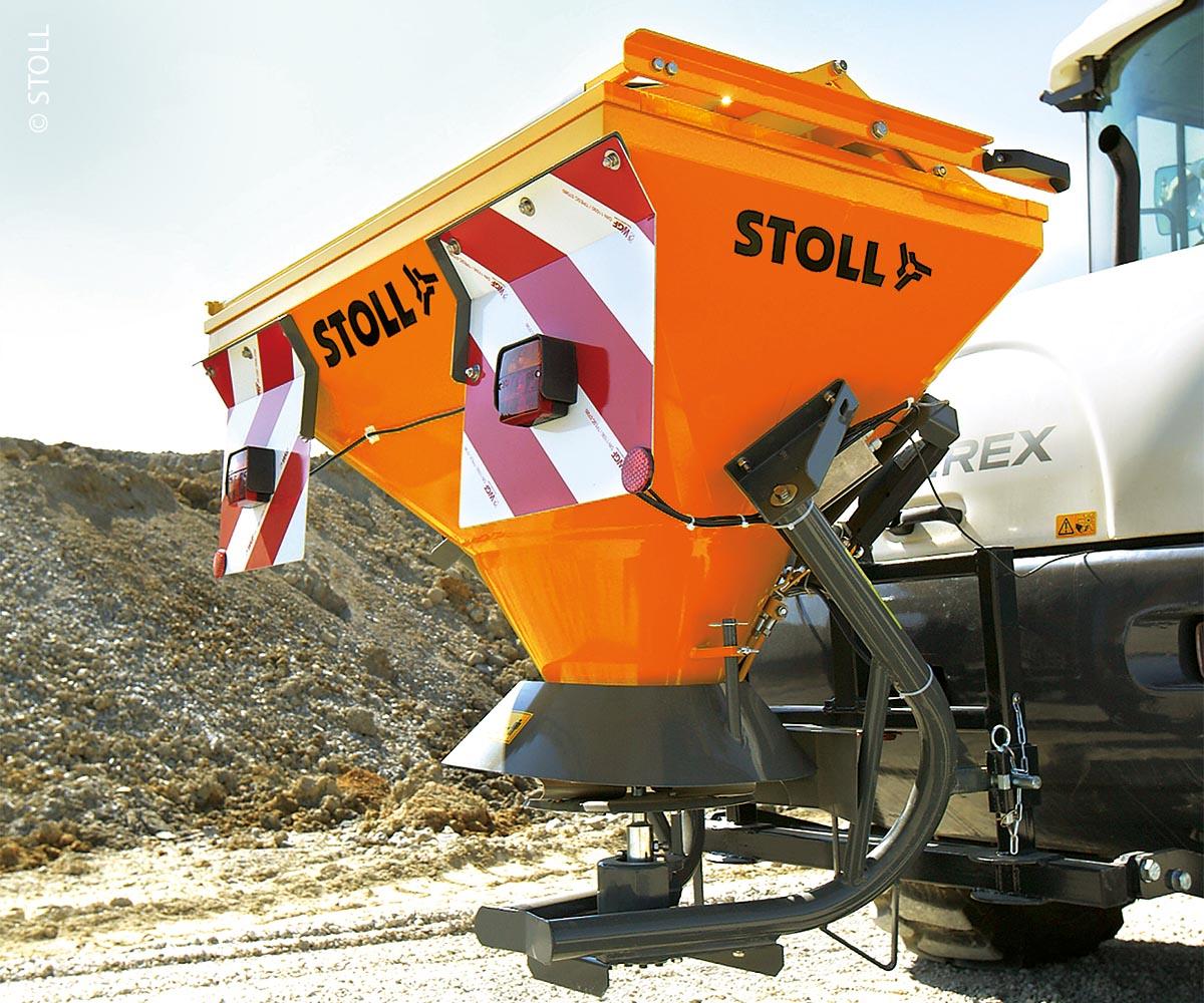Bei der Entwicklung wurde darauf geachtet, dass die Streugeräte möglichst nah am Fahrzeug angebaut werden können.