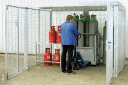 Containertyp GFC-M zur vorschriftsmäßigen Lagerung von Gasflaschen