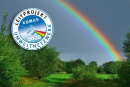 Regenbogen und KUMAS-Leitprojekte-Logo