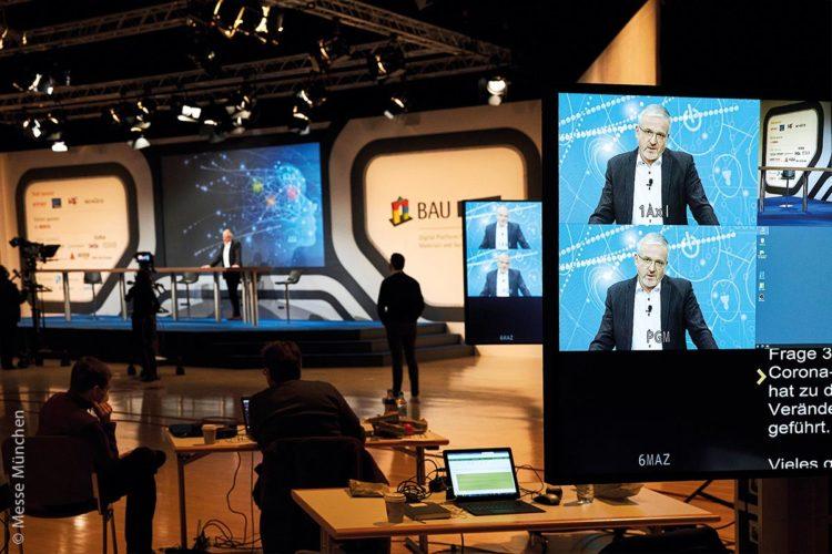 Die Corona-Maßnahmen zwangen große Messen wie die BAU Online auf virtuelle Lösungen umzusteigen.