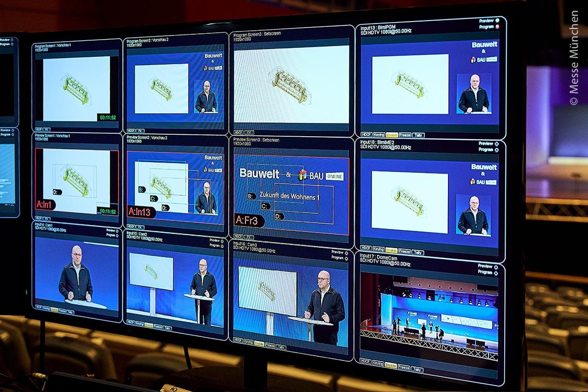 Neueste Produkte, die sonst persönlich in Augenschein genommen werden können, wurden auf der BAU Online virtuell vorgestellt. Hierbei kam modernste Videotechnik zum Einsatz.